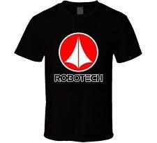 Robotech Anime Logo Men's Black T-Shirt Size S-3XL