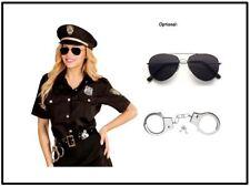 Polizistin Damen Kostüm - Polizei Uniform Bluse mit Hut - Karneval Fasching, (K)