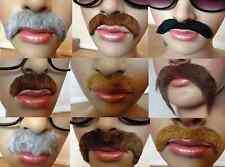 Fancy Dress Moustache 70's, Mexican, Cowboy, professor, Policeman, Self Adhesive