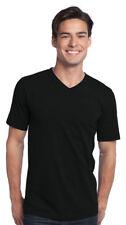 District Men's Short Sleeve V Neck 100% Cotton T-Shirt, 12-Pack. DT5500