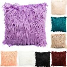 Fur Plush Velvet Square Throw Pillow Cases Sofa Waist Cushion Cover Home Decors