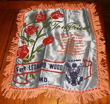 Vietnam Era Ft Leonard Wood Army Sweetheart Pillow
