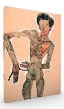 Nude Self Portrait Grimacing by Egon Schiele Expressionist Wall Art