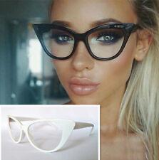 Vintage Women Full Rim Eyeglass Frames clear lens Glasses Rx able 008