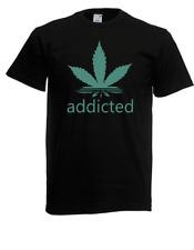 Herren T-Shirt Addicted Hanf Größe bis 5XL