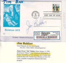 JIM BAKKER Televangelist Signed 1st Day Cover COA