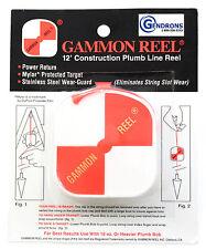 NEW 12' GAMMON REEL FOR PLUMB BOB, SURVEYING, RETRACTABLE STRING
