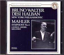 Bruno Walter: MAHLER SYMPHONY NO. 4 Desi Halban 8 brani CBS CD Filarmonica