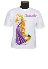 tee shirt fille princesse raiponce personnalisable prénom au choix réf 130