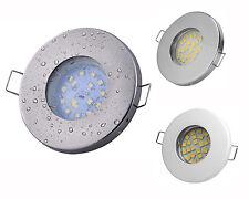 Badezimmer Einbaustrahler IP65 LED Lampe 230V GU10 Fassung Komplettset Einbau