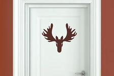 cool forward facing moose head door room sticker art decals