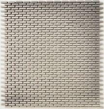 Minimosaik Stäbchen GLAS Enamel cream matt BAD WC KÜCHENRÜCKWAND 140-B23C