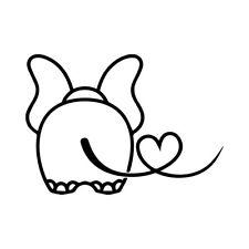 "6"" ELEPHANT HEART Vinyl Decal Sticker Car Window Laptop Animal Cute Africa Love"