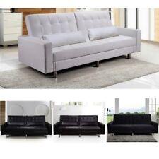 Divano letto con vano contenitore 190x112 ecopelle microfibra soggiorno sofa |09