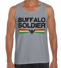 Buffalo Soldier Reggae Men's Vest Tank Top - Rasta Bob Marley