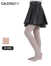 Collant Bambina, Calze Bimba a Pois, Collant Fantasia, 40 DEN, Made in Italy
