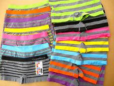2er Pack Pantys Ringelmuster Streifen breit neon seamless Big Size M-XXXL bzw.48