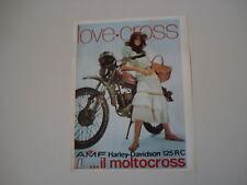 advertising Pubblicità 1973 HARLEY DAVIDSON 125 R/C