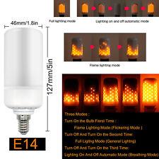 Fire Effect E27 E14 E12 B22 LED Burning Light Flicker Flame Lamp Bulb Decorative