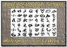NEW RUNES temporary TATTOOS Mortal Instruments waterproof  LAST1 WEEK+