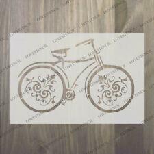 Bicycle Stencil 3 Vintage Craft, tissu, verre, mobilier, Wall Art jusqu'à A0