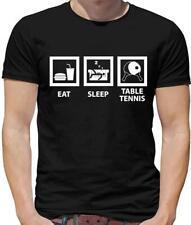Eat Sleep Table Tennis Mens T-Shirt - Ping Pong - TT - Ball
