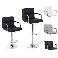 2 set Barhocker Barstuhl Tresenstuhl Lehnstuhl drehbar Chrom Hocker Lounge Stuhl