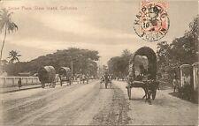 CARTE POSTALE COLOMBO CEYLAN UNION PLACE SLAVE ISLAND ILE DES ESCALVES