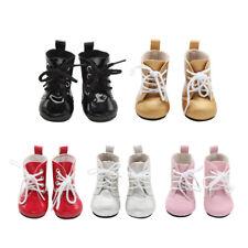 """Scarpe in pelle di Cuoio carino scarpe Bowknot per 18 /""""AG American Doll Dolls"""