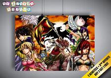 Poster FAIRY TAIL Groupe Team Manga Anime Wall Art