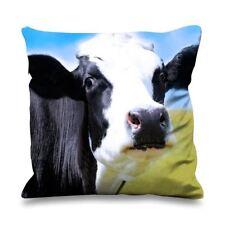 Vache visage close up fausse soie 45cm x 45cm canapé coussin-drôle de vaches