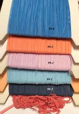 "Narrow Lace Trim 1/4"" Tiny Vintage 5 yards Choose Colors"