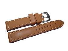 Uhrenarmband - Sattelleder - massives Leder - hellbraun - 18,20,22,24 mm