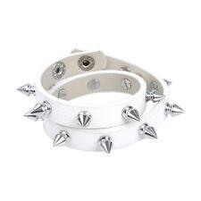 "Premium Thin Spike Studded PU Leather Bracelet Choker  15.5""&17.5"" - Diff Colors"