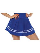 Women's Blue Cheerleader Pleated Costume Skirt