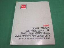 1990 GMC LIGHT TRUCK FUEL EMISSION DRIVEABILITY MANUAL