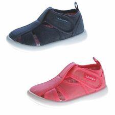 Kinder Sandalette geschlossen Mädchen Freizeit Stoff Schuh Glitzer 19-24