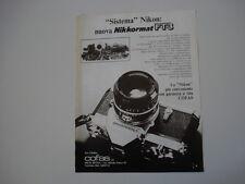 advertising Pubblicità 1977 NIKON NIKKORMAT FT3