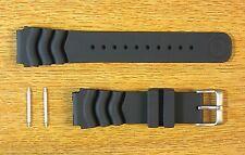 Seiko Z-22 Divers 22mm Z-20 20mm Black Rubber Watch Band Strap