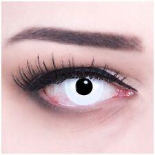 weisse farbige Kontaktlinsen für Halloween Kostüm und Party mit Stärke white