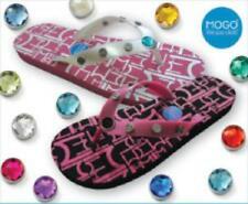 Mogo Click Flip Flops NWT Customizable Bling Charms Beach Wedding Shoes NWT