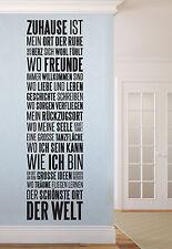 Zuhause ist - Flur Wohnzimmer zu Hause Diele Wandspruch Wandaufkleber WandTattoo