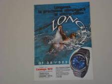 advertising Pubblicità 1972 OROLOGIO LONGINES