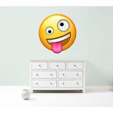 Emoji emoticons crazy drunk wall car decal sticker giant bedroom art mural face