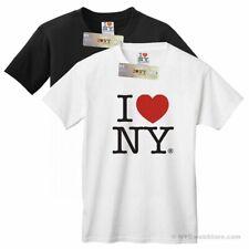 I Love NY T-Shirt, Official I Heart NY T-Shirts in Black and White Cotton Tee