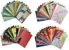 16 Bogen DESIGN-PAPIERE div. Muster DIN A4 Papier Scrapbooking RETRO BATIK Sets
