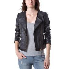 Women Leather Jacket Soft Solid Lambskin New Handmade Motorcycle Biker S M # 27