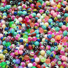 SET 10 Pair/20 Stück UV Balls multi colored mixed 1,2 and 1,6mm Tongue Lips