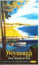 Vintage British Railways Weymouth Railway Poster  A3/A2/A1 Print