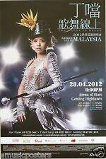 DELLA DING DANG 2012 KUALA LUMPUR,MALAYSIA CONCERT TOUR POSTER-The Diva In Della